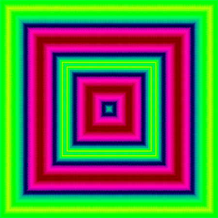 Rectangular shape of neon green, pink, blue square, gaudy multicolored abstract banner Banco de Imagens