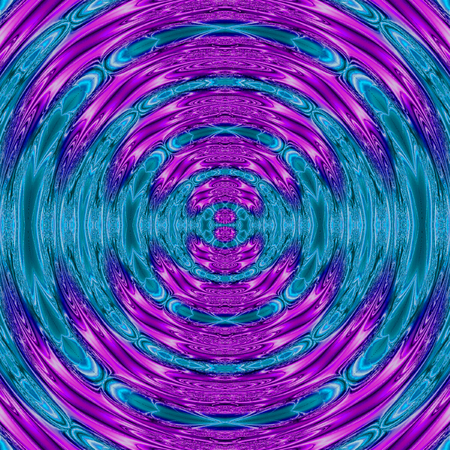 neon rotate illustration with glowing circular frame in blue teal and ultra violet effect ripples of neon teal and lavender colors