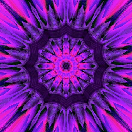 Abstract dark ultra violet mandala background design effect shining star tile