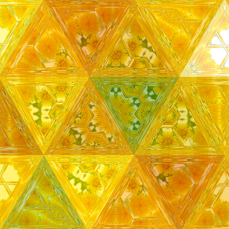 polygonal background triangular design in honey sunny yellow and green colors Imagens