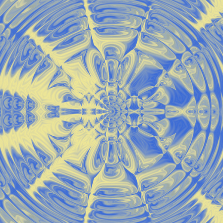 Abstract blue sky pattern, mandala of vishuddha chakra
