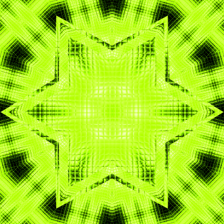 Surreal background mosaic light green star banner design with star in center for text Stock Photo