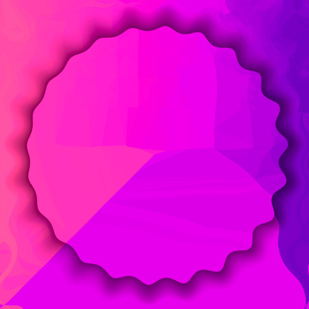 ultra violet circle background in center with light triangle structure. Copy space. Imagens