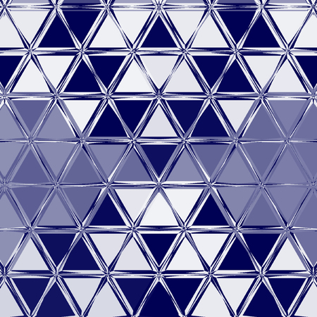 Navy Blue Abstract background geometry shine and triangle element , in blue marina and white