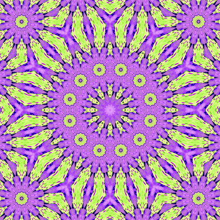 Pink spreading fractal tile able kaleidoscopic pattern in pastel colors