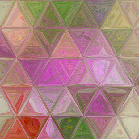 tender triangle pastel  texture in violet, beige, green colors for wallpaper, textile, baby fabric Stock Photo