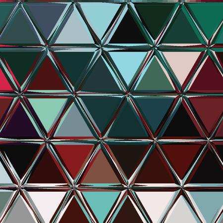 triangle dark multicolor texture in teal, white, brown, grenadine, shaded spruce turquoise colors for textile, wallpaper