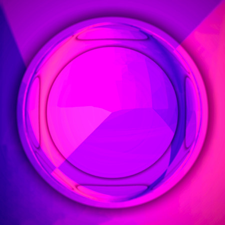 neon circle in center with copy space in ultra violet.