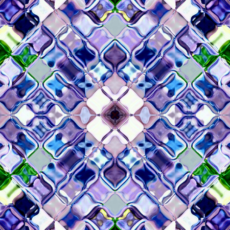 blue ripples arabesque ornament