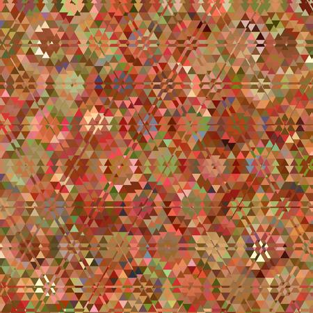 triangle pattern in grenadine and orange colors
