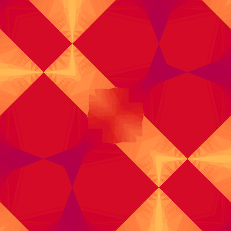 Geometric red grenadine and orange Cross neon shining frame Pattern Stock fotó