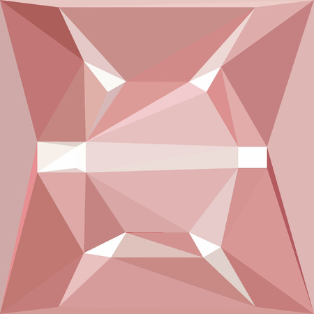 Pink and white polygonal pattern effect diamond for banner or card Stock fotó