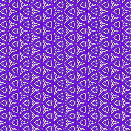 Unique kaleidoscope design of continuous pattern in violet