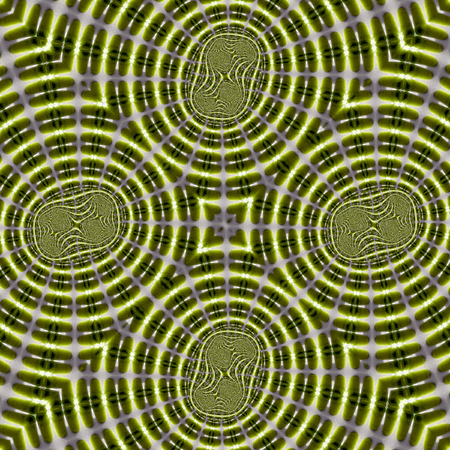 Fractal pattern in green color Stock Photo
