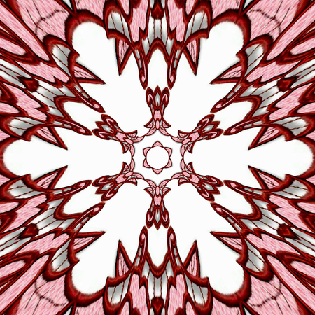 Ornamental mandala and fractal effect of embroidery richelieu flower