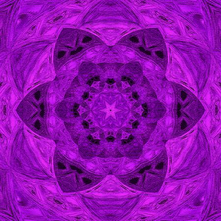 Ultra violet arabesque mandala with effect of aged image Фото со стока
