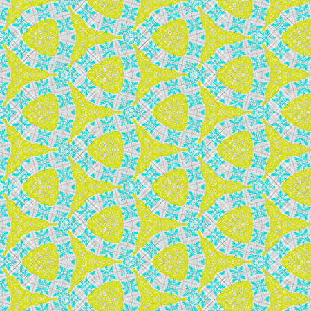 Lace vintage geometric mosaic for baby textile in pastel colors Stock Photo