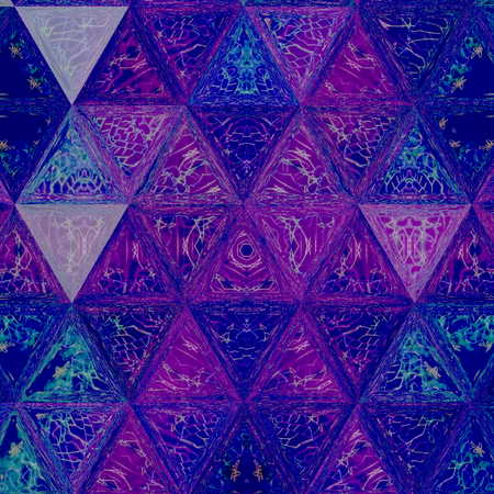 blue and ultra violet gaudy triangle continuous pattern Banco de Imagens