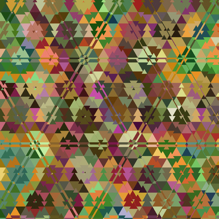 polygonal pattern of triangles ornamental mosaic
