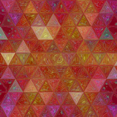 triangle shining background of stained glass mosaic Stock Photo