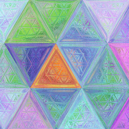 pastel crayon triangle pattern in sweet colors