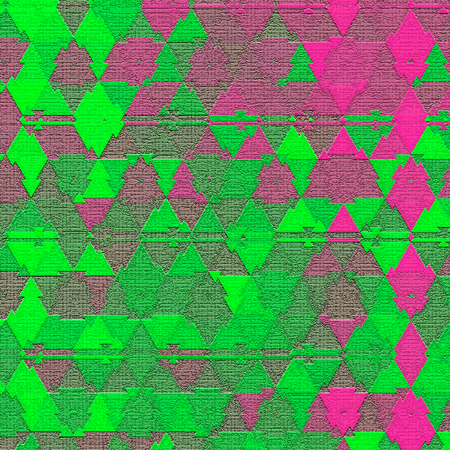 Illusive continuous colorful triangle pattern effect of camouflage