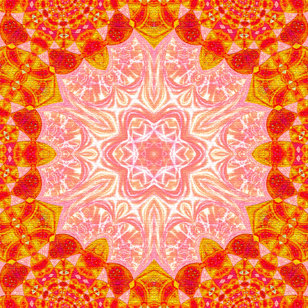 pattern in oriental style colorful ornamental background with mandala frame