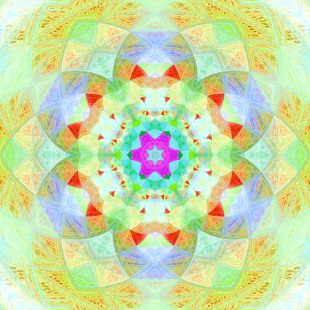 Mehndi ornamental background mandala in pastel colors