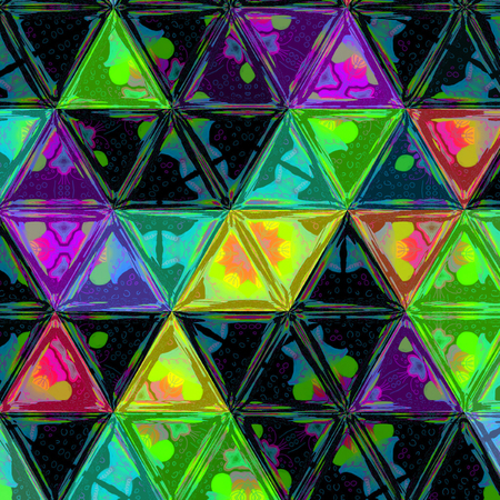 Abstract Triangle Background colorful polygonal pattern