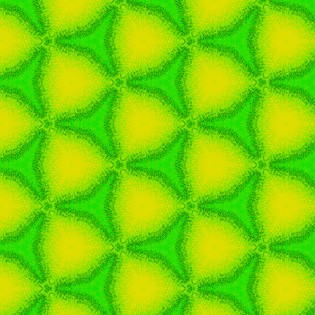 abstract kaleidoscope triangle pattern in neon green and yellow