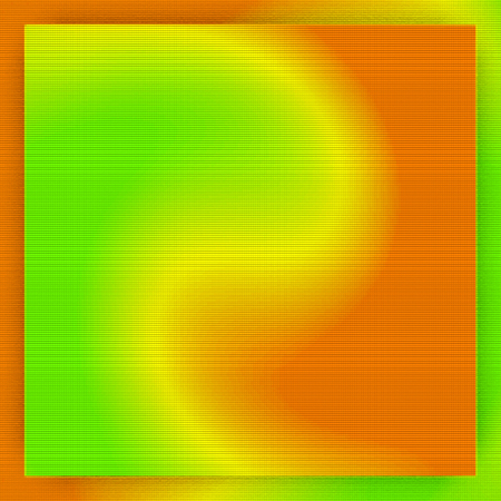 Abstract orange and green gradient background rotate in square frame