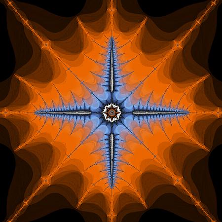Symmetrical fractal medieval cross banner