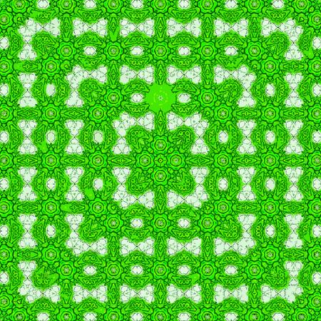 continuous square frame lacy pattern kaleidoscope Banco de Imagens