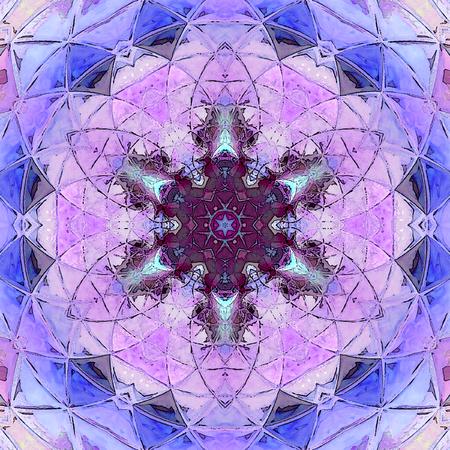 violet ornamental card, tender arabesque Stock Photo