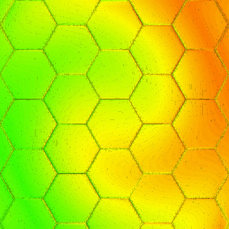 honeycomb honey have background in green, yellow and orange gradient, honey holiday or card