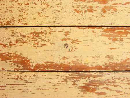 Old ocher or yellow wood wall texture and background Stockfoto