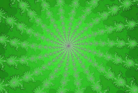 Abstract background of fresh green summer sun fractal