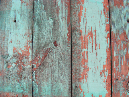 Shabby Wood Background in teal, blue, brown