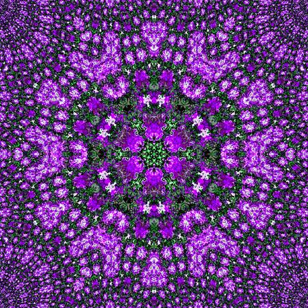 violet ornamental arabesque lavender mandala Stock Photo