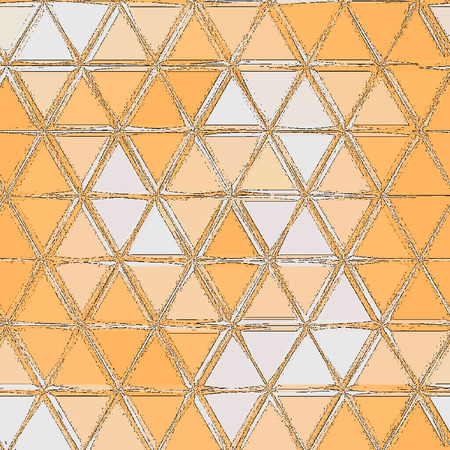Simple Triangles pattern,Abstract background consisting of orange and white triangles.