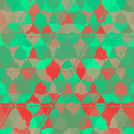 Small red and green triangles continuous pattern