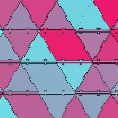 Bright multicolor polygonal illustration of triangles.