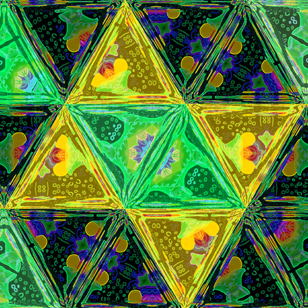 Geometric triangle mosaic  3D background.