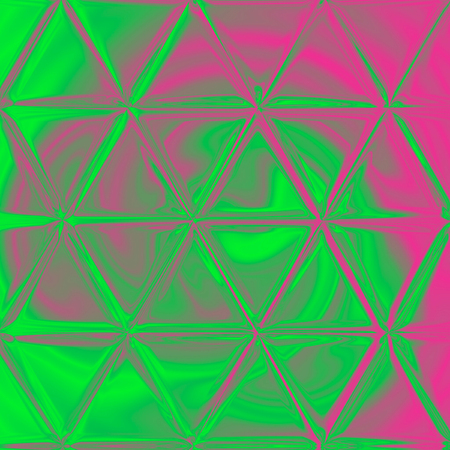 vivid pink and green bright abstract triangles pattern