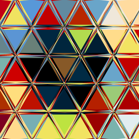 Geometric abstract mosaic triangles with different color