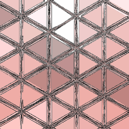 Fondo del modello del triangolo del poligono basso poligonale chiaro rosa