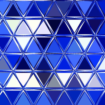 Abstract geometric background with blue triangles. Polygon pattern, Banco de Imagens