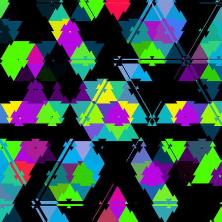 gaudy triangles on dark background