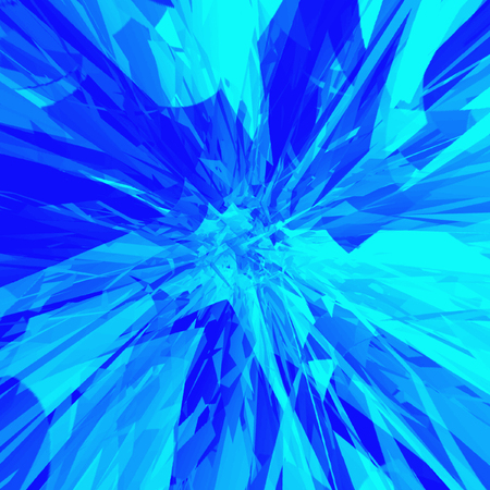 banner kaleidoscope of neon blue rotate pattern with effect of explosion 스톡 콘텐츠