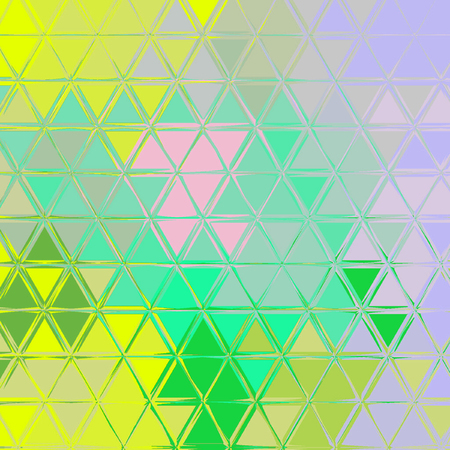 Yellow and teal triangular pattern. Polygonal geometric background.